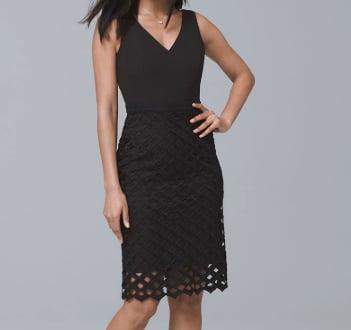Lattice Skirt Sheath Dress