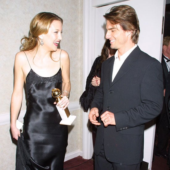 Tom Cruise and Kate Hudson chatted with her Golden Globe backstage in 2001.