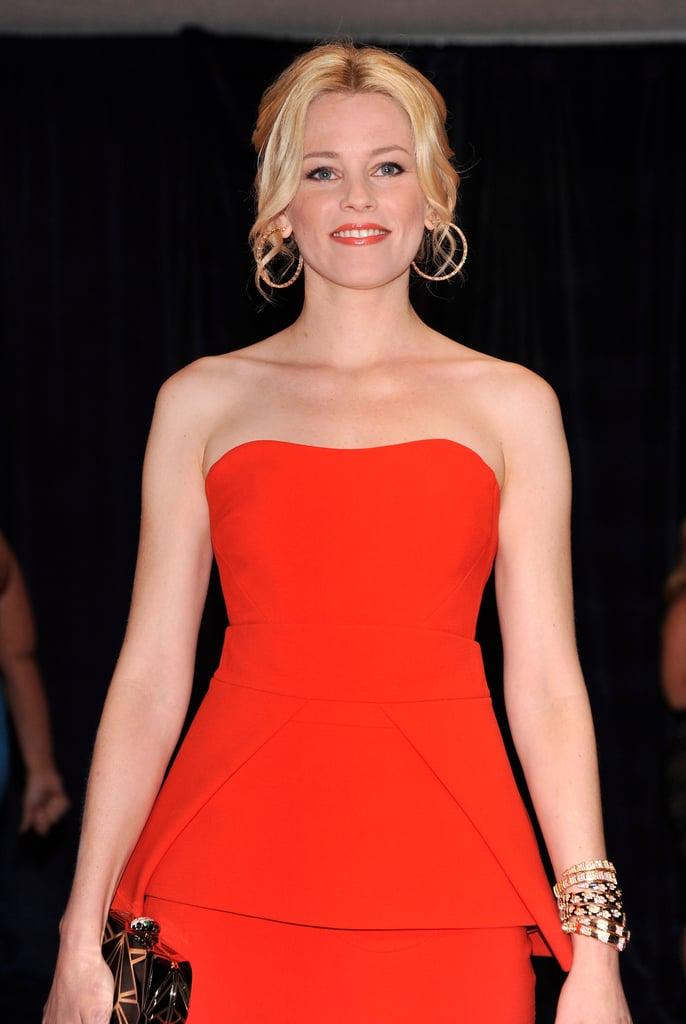 Elizabeth Banks showed off her incredible figure in a red dress.