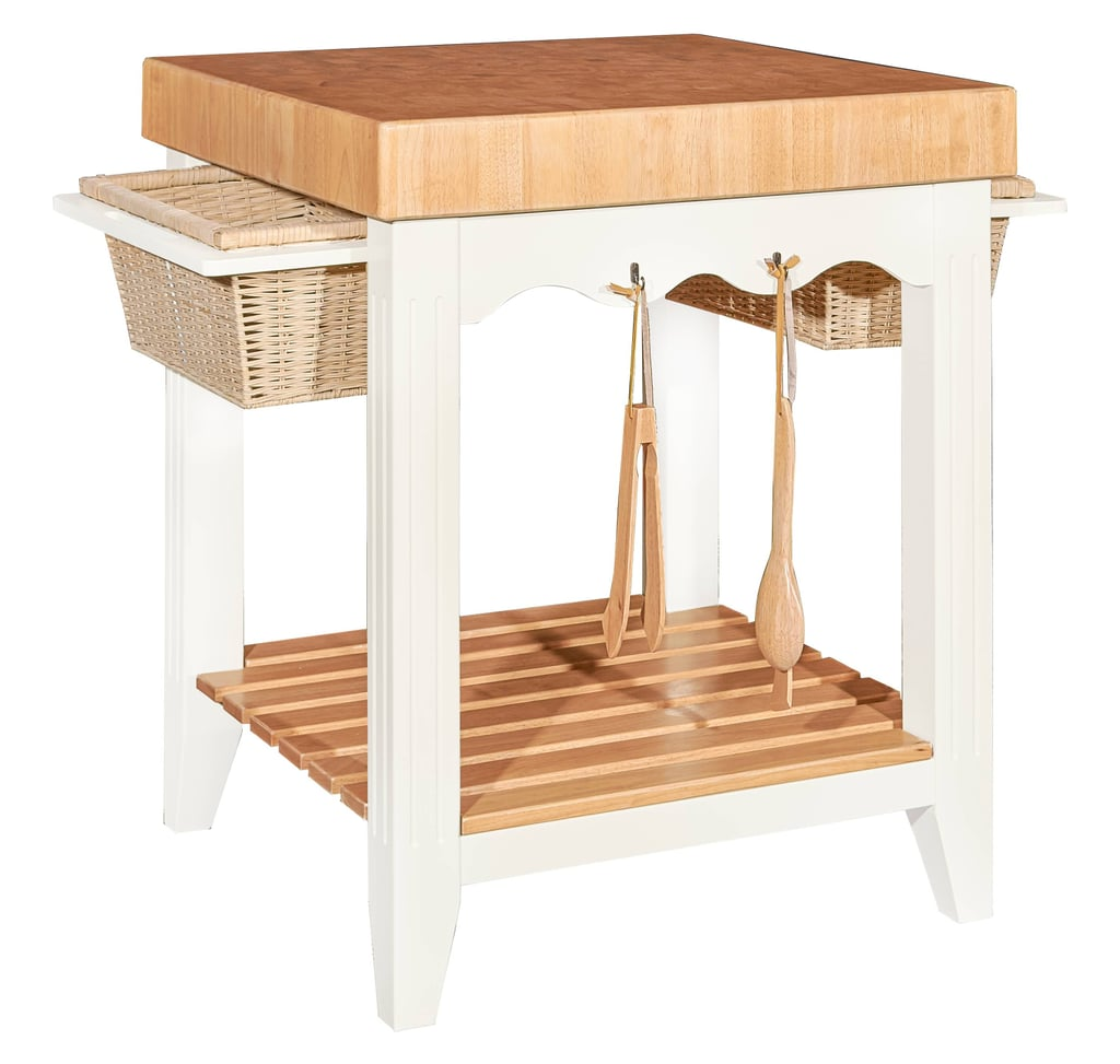 Adjustable White Kitchen Island