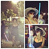 Jennifer Hudson partied late in the night wearing an orange bikini. Source: Instagram user jhuddiva1