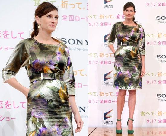Pictures of Julia Roberts at Eat Pray Love Press Conference in Tokyo Japan Before Donostia Award at San Sebastian Film Festival