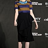 Emma Stone in Burberry Prorsum at a The Amazing Spider-Man press conference in Seoul.