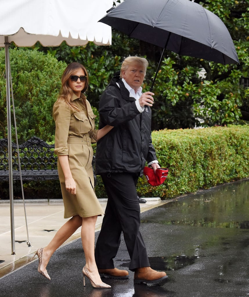 Melania Trump Snakeskin Heels For Visit to Texas