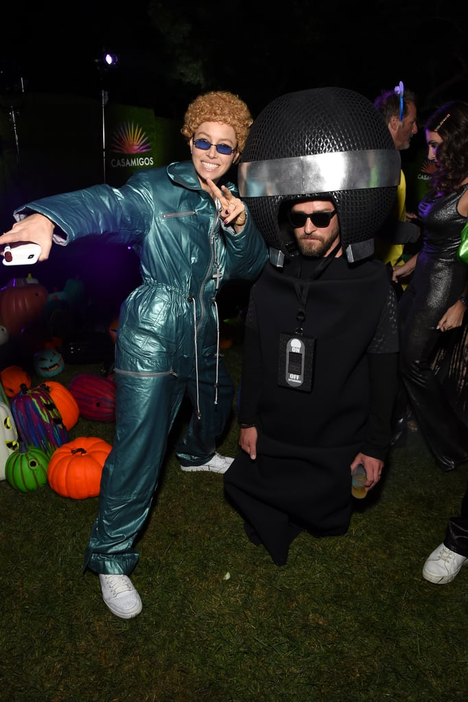 Jessica Biel Dressed Up as Justin Timberlake For Halloween