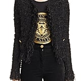 Balmain Fringe Trim Sweater Jacket