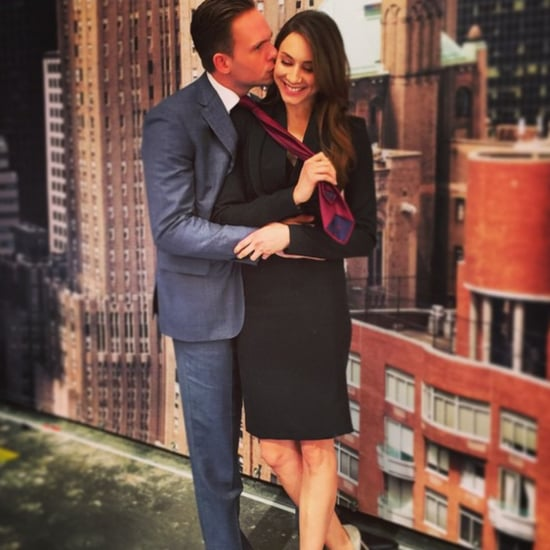 PLL's Troian Bellisario Joins Her Fiancé on the Set of Suits
