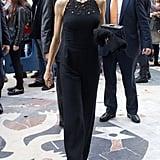 We're loving this chic black jumpsuit!