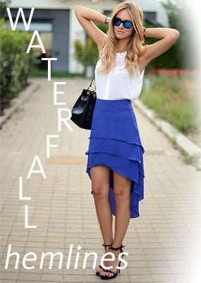 New Trend to Try for Summer 2011: Waterfall Mullet Hemline Skirts. Shop the Look Online at Shopstyle Australia!