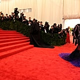 Beyoncé Knowles took to the stairs at the Met Gala in a Givenchy dress.