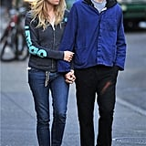 Sienna Miller and Tom Sturridge went out together in NYC.