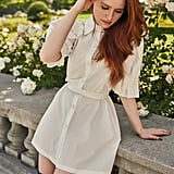 Shein x Madelaine Frill Trim D-Ring Belted Puff Sleeve Shirt Dress