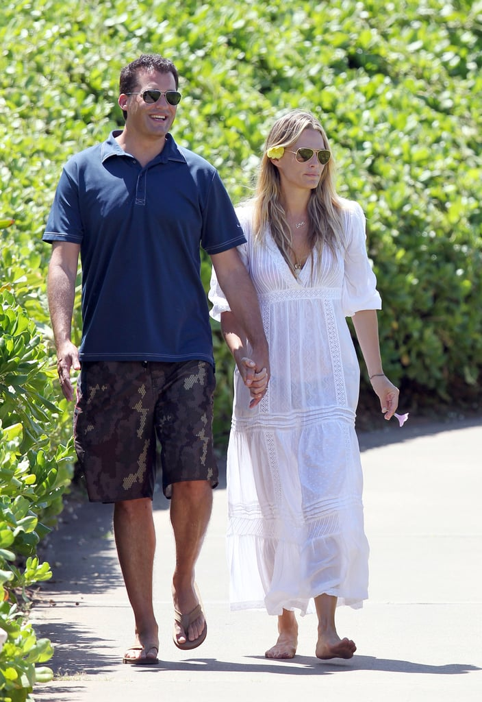 Molly Sims and husband Scott Stuber at the Four Seasons.