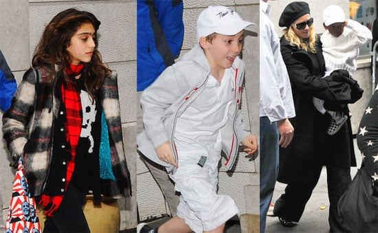 Photos of Madonna, David Banda Ritchie, Lourdes Leon, Rocco Ritchie Leaving Kabbalah Center in NYC