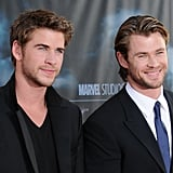 Liam and Chris showed off their baby blues at the LA premiere of Thor in May 2011.