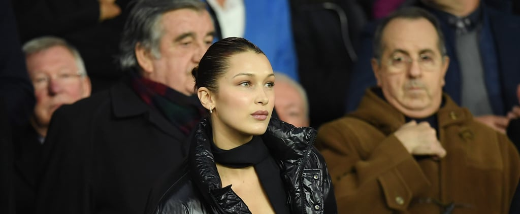 Bella Hadid's Aritzia Black Puffer Jacket