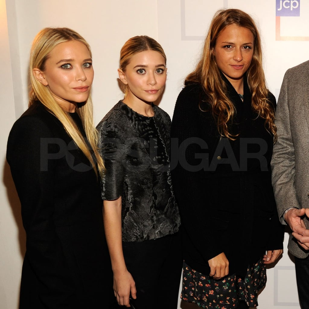 Olsenboye designers Mary-Kate and Ashley Olsen crossed paths with fellow fashionista Charlotte Ronson.
