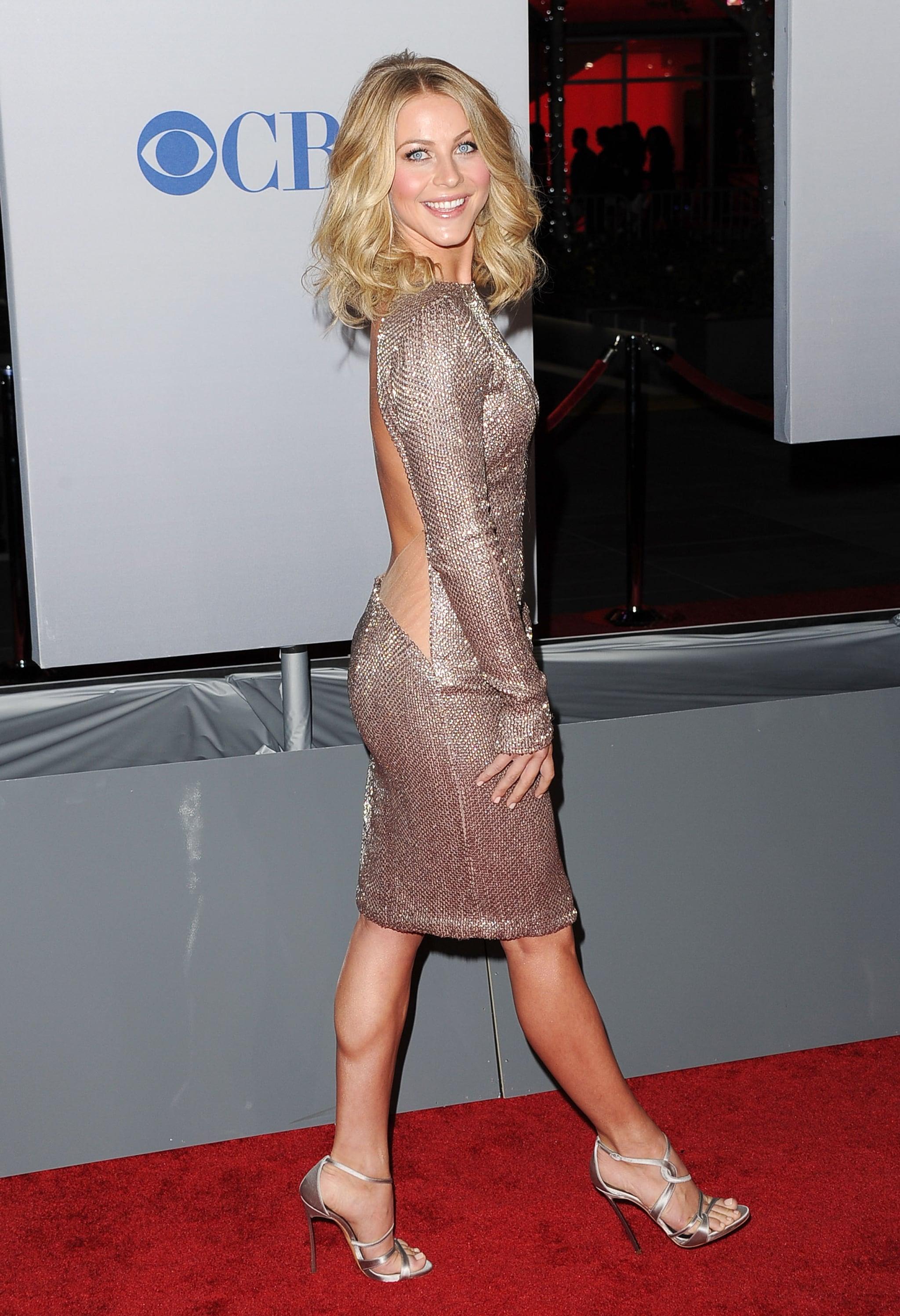 Julianne Hough had on a backless dress.