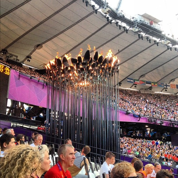 Eamon Sullivan shared one last picture of the Olympics cauldron. Source: Instagram user eamon_sullivan