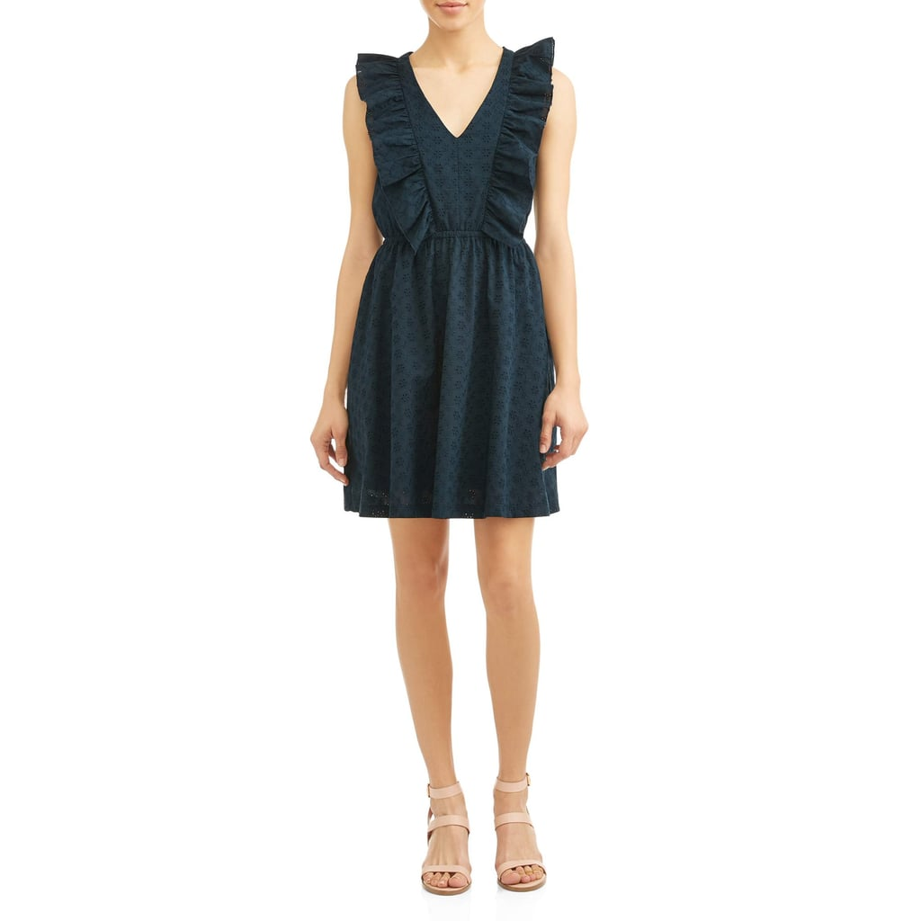 Eve Sleeveless Ruffle Vee Dress