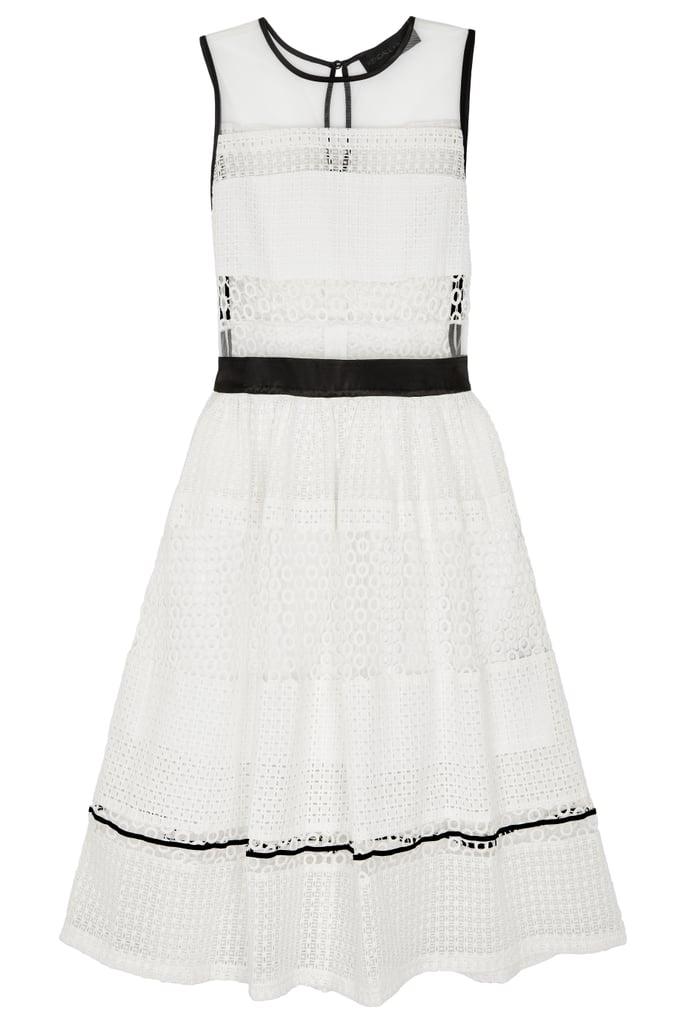 Sleeveless Pierced Mixed-Lace Dress ($298)