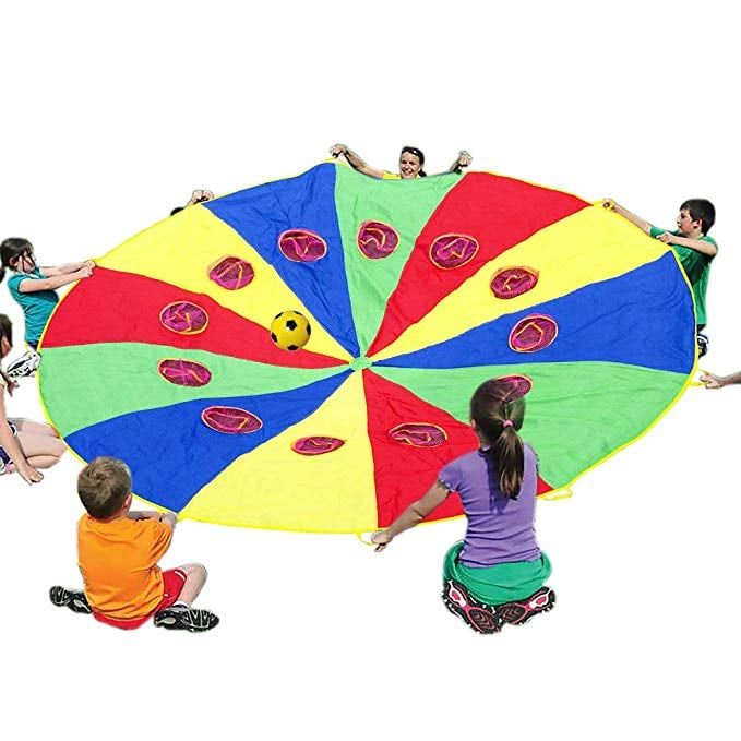 Parachute With Handles and Holes