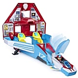 Paw Patrol, Super Paws, 2-in-1 Transforming Mighty Pups Jet Command Centre With Lights and Sounds