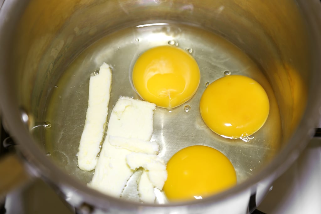 3 Eggs Into a Pan (or Pot) With a Large Pat of Butter
