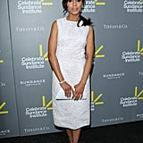 Kerry Washington wore a white Calvin Klein dress.