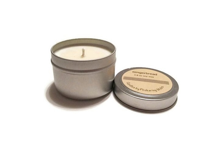 Gingerbread-Scented Soy Candle