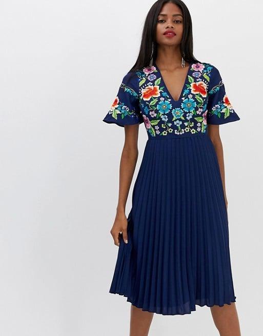 1d58d6bc57b ASOS Design Embroidered Midi Dress