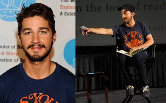 Photos of Shia LaBeouf at The Wonder of Reading's Explore-a-Story: A Celebration of Books | POPSUGAR Celebrity