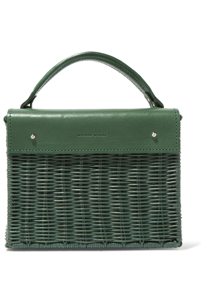 Wicker Wings Rattan and Leather Tote