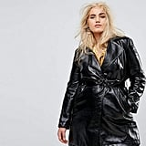 Elvi Allover Premium Vinyl Trench Coat