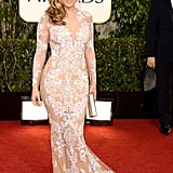 Jennifer Lopez Wearing Zuhair Murad to the 2013 Golden Globe Awards