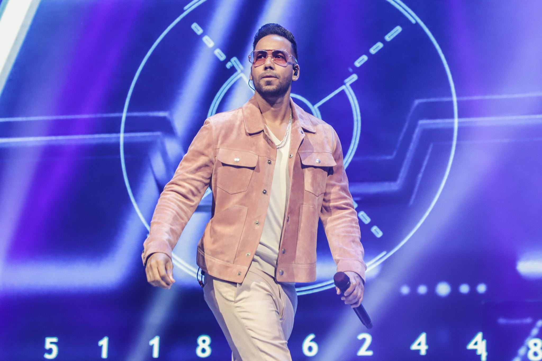 MIAMI, FLORIDA - MARCH 10:  Singer Romeo Santos performs on stage during 'Inmortal' Aventura Tour at American Airlines Arena on March 10, 2020 in Miami, Florida. (Photo by John Parra/Getty Images)