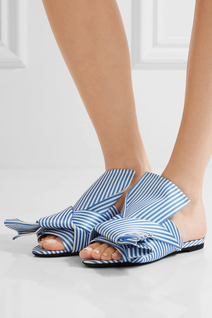 knotted slider sandals - White N°21 lbsT59Cr8