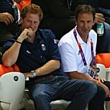 Prince Harry was in attendance at the swimming during the Olympics.