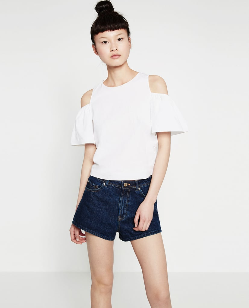 Zara Cut-Off Shoulder Top ($36)