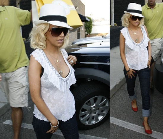 Christina's Baby Bump Does The Confirming For Her