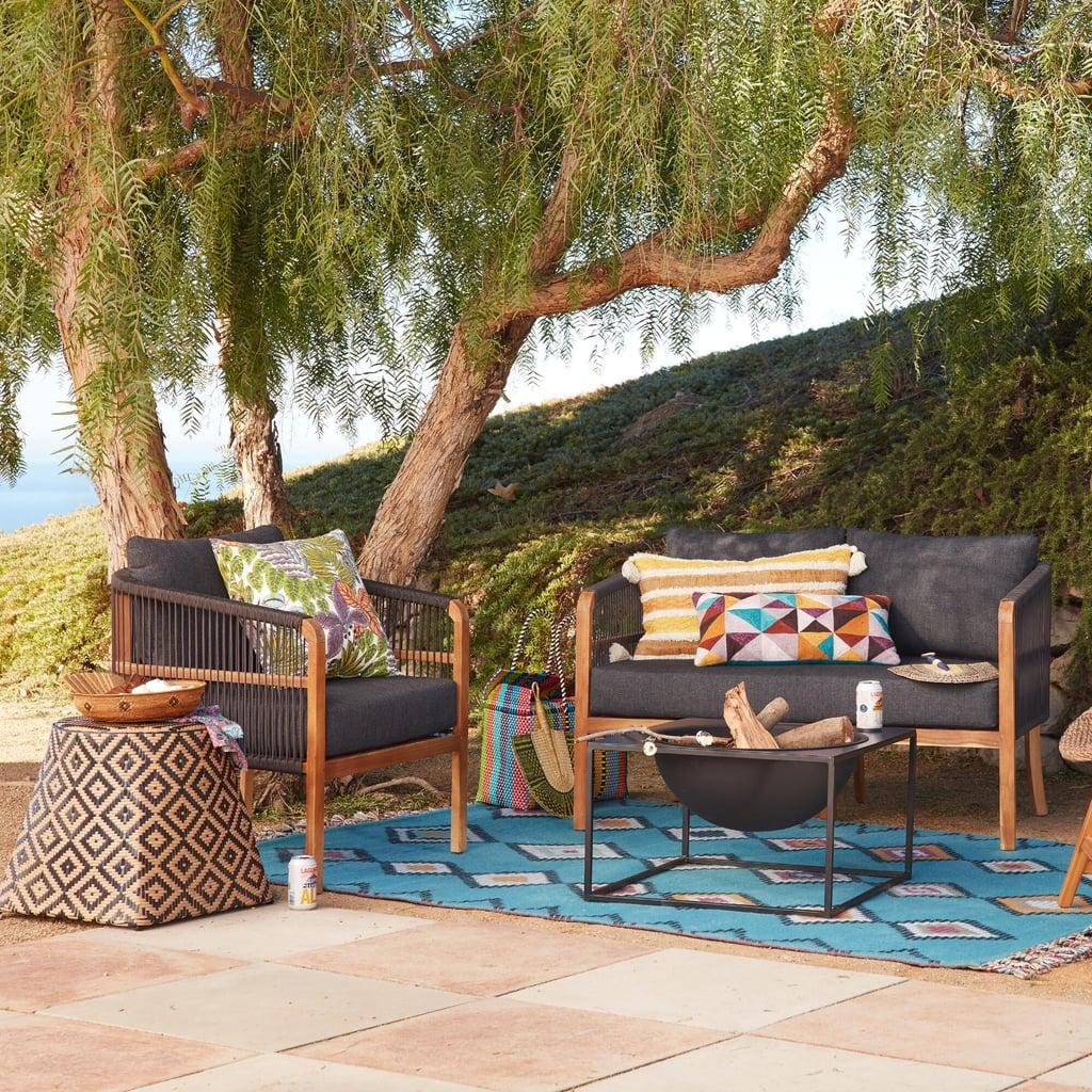 Cambria Patio Furniture.Black Nautical Rope Cambria Outdoor Occasional Chair Best Outdoor