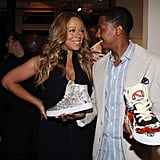 Mariah Carey and Nick Cannon shared a moment at the Project Canvas Exhibition & Art Gala in NYC.