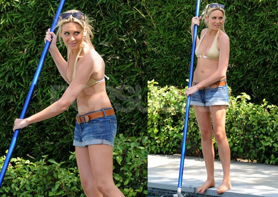 Pictures of The Hills' Stephanie Pratt Cleaning Her Pool in a Bikini