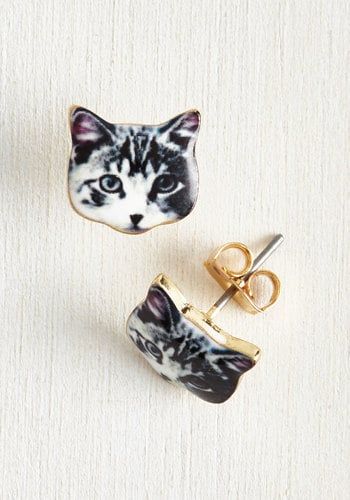 Ana Accessories Inc Best-Dressed in Show Earrings in Cat ($13)