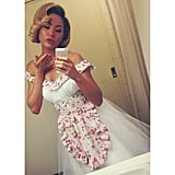 Jesinta Campbell went all '50s-housewife on us in this cute pic. Source: Instagram user jesinta_campbell