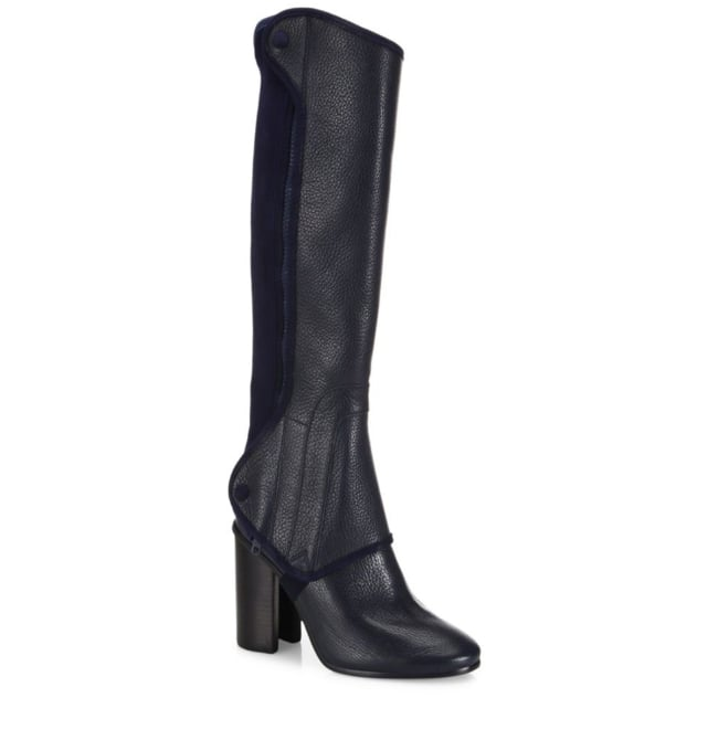 Tory Burch Waterbury Convertible Leather Block-Heel Boots ($695)