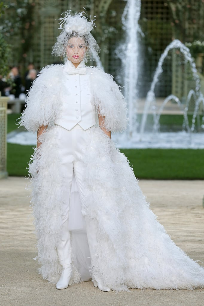 A Closer Look at the Angelic Bridal Tuxedo Outfit | Chanel Couture ...