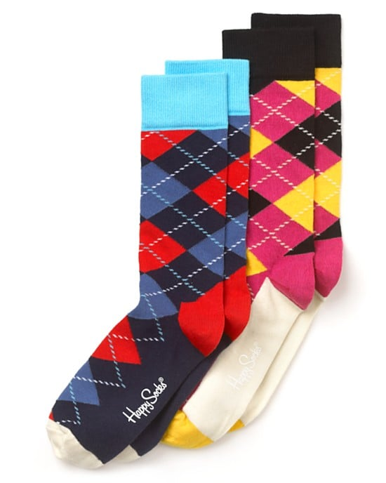 These Happy Socks argyle crew socks ($12) are the perfect complement to a low-cut ankle boot. They'll add a bit of color and printed dynamic without taking away from the other outfit elements.