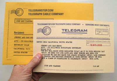 Website Telegram Stop Lets You Send Real Vintage Telegrams For Under Five Dollars