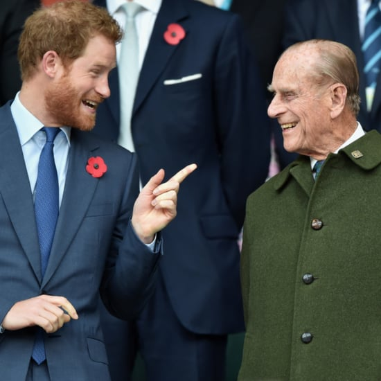 Photos of Prince Harry and Prince Philip